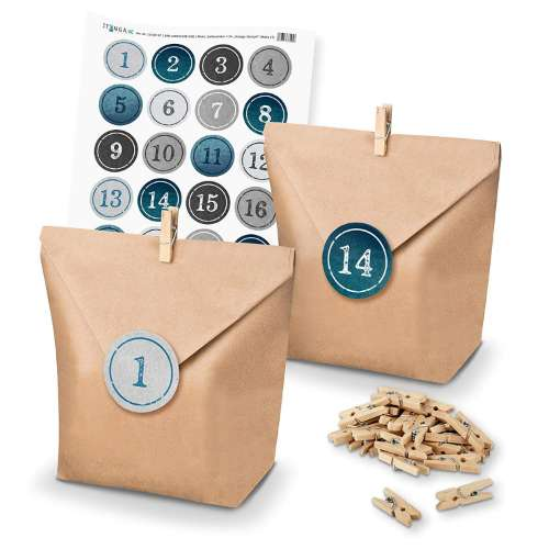 diy paper bag advent calendar