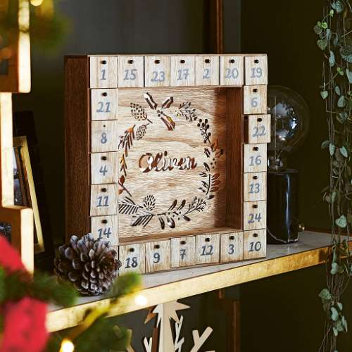 wooden boxes advent calendar