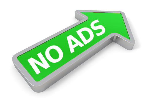 No ads arrow