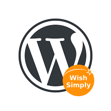 Wordpress.org logo with WishSimply logo